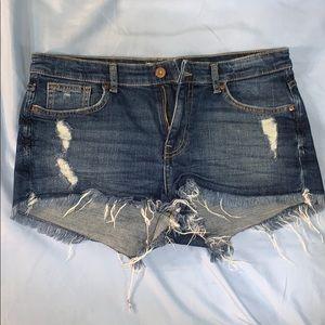 H&M Distressed Jean Cutoff Shorts Size 8